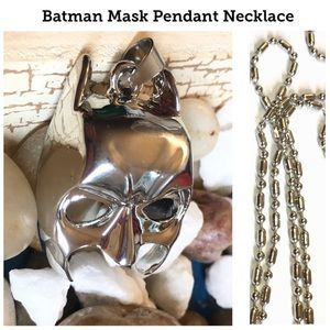 $7 Stainless Steel Batman Mask Pendant Necklace